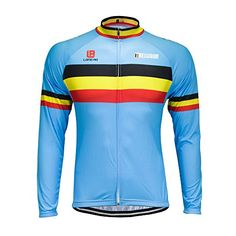 Yianerm Mens Long Sleeve Cycling Jersey Breathable Comfortable Medium -- Check out this great product.Note:It is affiliate link to Amazon.