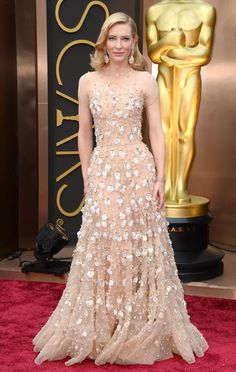 Cate Blanchett arrives at the 86th Annual Academy Awards at the Dolby Theatre in Hollywood on March 2, 2014. (Jordan Strauss/Invision/AP)