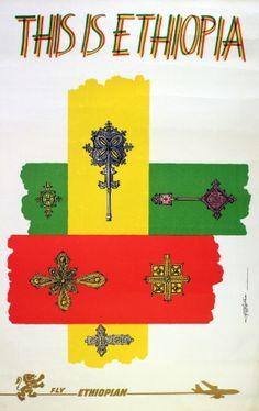 This is Ethiopia, 1970s - original vintage poster by Afewerk Fekle listed on AntikBar.co.uk
