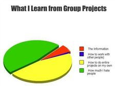 What I learn from group projects - graphic image - Whatever - humor Funny Relatable Memes, Funny Quotes, Hilarious Memes, Funniest Memes, Funny Humor, Funny Pie Charts, Haha, I Hate People, Difficult People