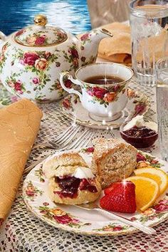 High Afternoon Tea Party by Sweet Remembrances, PA Good Morning Coffee, Coffee Time, Tea Time, Café Chocolate, Afternoon Tea Parties, Tea Sandwiches, Tea Service, My Cup Of Tea, Kakao