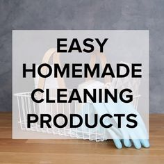 Easy Homemade Cleaning Products #cleaning #simple #hacks #DIY