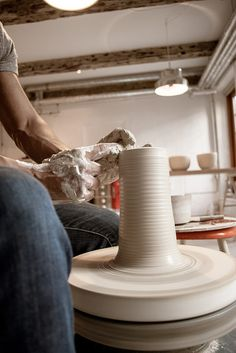 here's one I made earlier :: tortus copenhagen - confessions of a design geek Ceramic Studio, Ceramic Art, Tortus Copenhagen, Pottery Wheel, Clay Design, Designer, Arts And Crafts, Collection, Wheel Throwing