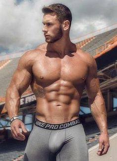 Fur, Tats, Leather and Scruff. Lycra Men, Hommes Sexy, Hot Hunks, Shirtless Men, Male Physique, Big Men, Muscle Men, Muscle Hunks, Male Body
