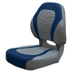 Fold-Down Seat Wise Torsa Pro Angler Seat, Gray/ Navy blue Bass Boat Seats, Fishing Boat Seats, Fishing Boats, Mini Pontoon Boats, Fishing Places, Folding Boat, Seat Storage, Seat Covers, Gaming Chair