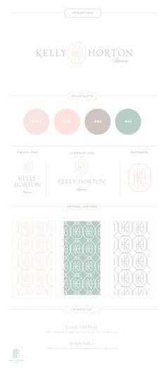 Branding Design for Kelly Horton Interiors | Luxury Branding, Logo, Original Pattern Design | Interior Design Branding | www.emilymccarthy.com