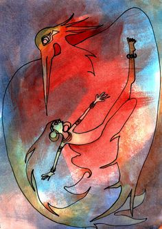 Bird Dancer original painting