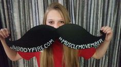 Excellent effort from Lara in supporting #MuscleMovember