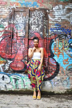 Red Diamond African Print Bianca Harem Pants by LivinginLight, $64.00