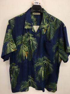 4f7653e0 MENS 2XL XXL TOMMY BAHAMA HAWAIIAN SHIRT ALOHA FLORAL CASUAL SILK BLUE  LOOKS NEW #TommyBahama