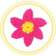Flor de Seis Pétalos a Crochet #2   PATRONES VALHALLA // Patrones gratis de ganchillo