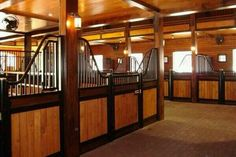 Dream barn. Like that the bars don't go all the way up. This Stable is truly amazing!