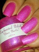 Enchanted Polish-Disco Barbie. Hot pink linear holographic nail polish
