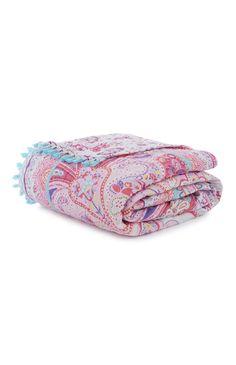 Primark - Jeté de lit matelassé motif cachemire
