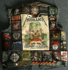 Crash Course in Brain Surgery Combat Jacket, Battle Jacket, Visible Mending, Rock Chick, Rock Outfits, Biker Leather, Metal Artwork, Fabric Manipulation, Art Forms
