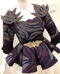 African Ankara Peplum Blouse For Every Woman African Maxi Dresses, African Fashion Ankara, Latest African Fashion Dresses, African Dresses For Women, African Print Fashion, African Attire, Women's Fashion Dresses, African Men, Africa Fashion