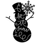 Silhouette Design Store: Let It Snow - Snowman Phrase Christmas Labels, Christmas Clipart, Silhouette Cameo Projects, Silhouette Design, Charger Plate Crafts, Christmas Rock, Christmas Vinyl, Diy Vinyl Projects, Cricut Creations