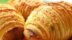 """Hasselback Potatoes I """"I have been making these for years, the presentation is wonderful, as for taste, any spices can be used, to change the flavor, from plain and simple to very spicy, its all in personal taste."""""""