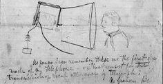 Alexander Graham Bell's sketches: Telephone