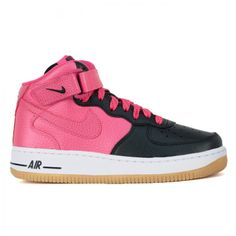 half off 1ceaf 592ce The Nike Kids Air Force 1 Mid in black and pink is available for  85 in