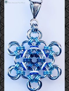 Snowflake Chainmaille Pendant by RingAroundTheWrist on Etsy, $20.00