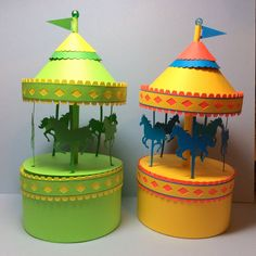 Papercrafts and other fun things: A Carousel Box That Really Spins free printable