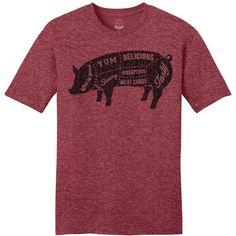 Tasty Pig t-shirt bacon, funny, t-shirts, humor, trendy. www.masonjarlabel.com