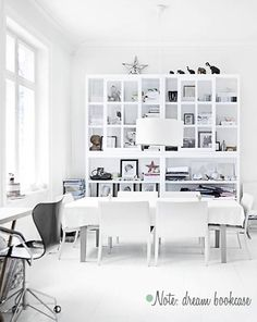 Bedroom Bookshelf?  There is just something about the CLEAN look of WHITE.   Yet I love color???