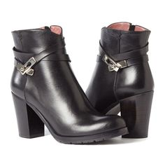 Black Ankle Boots - PAULA - Italian Handmade Boots - exclusive at Autograf New York - Extended sizes available US 5-12!