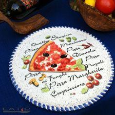 #Pizzateller aus #Keramik, #Pizza #Teller mit landestypischen, #mediterranen Motiven.--- made in #Italy