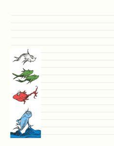 Free Printable Dr. Seuss Stationary