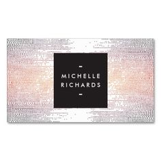 Beautiful and eye-catching business card template for cosmetologists, makeup artists, salons, spas, hair stylists, fashion bloggers and more - ready to personalize