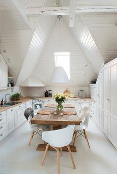 Attic kitchen..