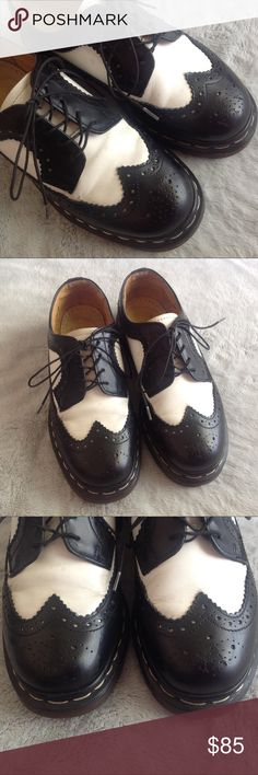VTG 90s Doc Marten Oxford Wingtip Creeper Great vintage condition. Oxford  Wingtip Brogues by Doc 2d0488070
