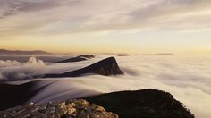 Sea of clouds - Mount Abrupt, Australia