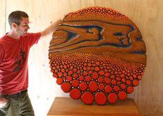 Dragon & Phoenix Wood Sculpture