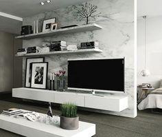 Tv Op Plank Aan Muur.Decoratie Boven Tv