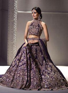 Exclusive Heavy Designer Beautiful Purple Color Bridal Lehenga Choli-B Indian Bridal Lehenga, Indian Bridal Wear, Indian Wedding Outfits, Pakistani Bridal, Bridal Outfits, Pakistani Dresses, Indian Dresses, Bridal Dresses, Punjabi Wedding