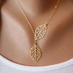 Hot Fashion Gold Silver Plated Chain Necklace Leaf Casual Beads Long Strip Pendants - Hespirides Gifts - 1