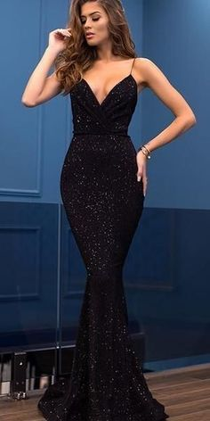 Sparkly Sequin Different Colors Mermaid Backless V-neck Sexy Prom Dresses, Charming Prom Dresses Elegant Long Sexy Prom Dress Modest Prom Dresses Sparkly Prom Dresses, Gala Dresses, Evening Dresses, Formal Dresses, Black Mermaid Dress, Black Sparkly Dress, Wedding Dresses, Sexy Dresses, Prom Dresses