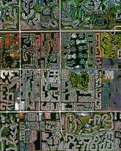 Boca Raton, na Flórida (EUA) As fotos fazem parte do projeto Daily Overview, de Benjamin Grant
