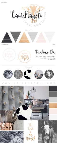 Laine Napoli Branding & Design Farmhouse Chic - Country Branding - Custom Brand Board - www.lainenapoli.com
