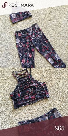 Jala Clothing SUP Yoga outfit Perfect for hot yoga or SUP yoga or outdoor fun this Jala Clothing outfit with fun ladder back bra will dry faster than you can get it wet again! Condition Like New Jala Clothing Other