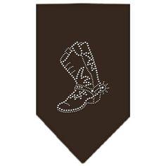 Boot Rhinestone Bandana Cocoa Small