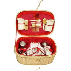 Antique Doll's Perfume Nécessaire in Original Basket from belle-epoque-dolls on Ruby Lane