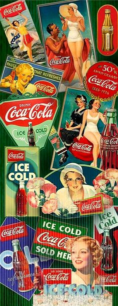 Learn about Coca-Cola history during the The Martin Guide to Coca-Cola Memorabilia and Coca-Cola Price Guide is your ultimate guide to collecting vintage Coca-Cola items dating from 1890 to Retro Advertising, Retro Ads, Vintage Advertisements, Vintage Ads, Vintage Signs, Coca Cola Poster, Coca Cola Ad, Always Coca Cola, Coca Cola History