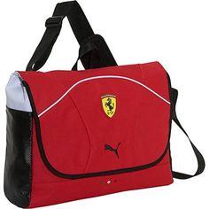 Puma Ferrari Replica Messenger Bag Red - Puma Laptop Messenger Bags