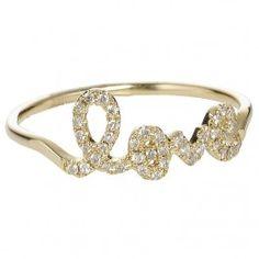 Sydney Evan Love Ring  at Austique.co.uk