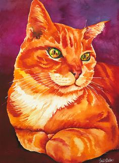 Red 22×13 Watercolor. Sinclair Stratton