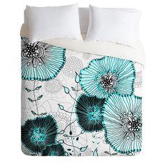 Monika Strigel Mystic Garden Mint Duvet Cover   DENY Designs Home Accessories Luxe Duvet Cover #illustration